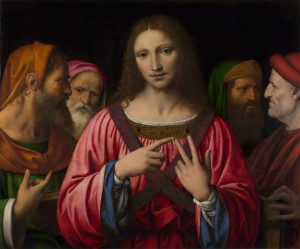 Bernardino Luini, Le Christ parmi les docteurs, v. 1515-30, huile sur bois, 72.4 x 85.7 cm, Londres, National Gallery (photo: The National Gallery, London)