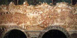 Lippo Vanni, Bataille du Val di Chiana, Sienne, Palais publique, 1340