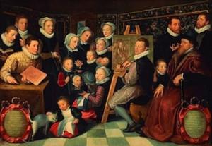 Otto-Venius-Portrait-de-lartiste-entouré-de-sa-famille-1584