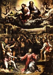 Giulio Romano, La lapidation de saint Étienne, 1521, Église Saint Étienne, Gênes