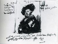 Rembrandt-croquis-du-Portrait-de-Baldassare-Castiglione-1639