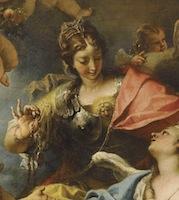 Sebastiano-Ricci-Allégorie-de-la-France-sous-la-forme-de-Minerve-la-Sagesse-détail-1717-Paris-Louvre