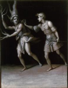 5 Pontormo, Apollon et Daphné, 1513. Huile sur toile, 61,9 x 48,9 cm. Bowdoin College Museum of Art, Brunswick