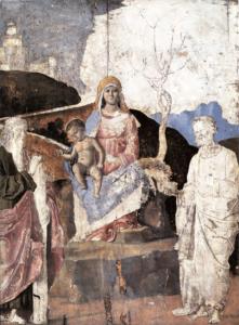 Atelier de Cima da Conagliano, La Vierge entre saint André et saint Pierre, Edimbourg, National Gallery of Scotland